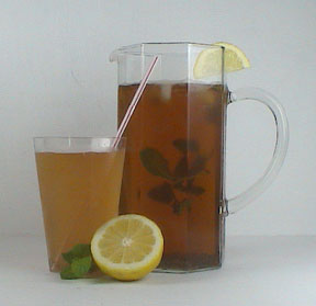 Lemon Mint Cold Chia Tea