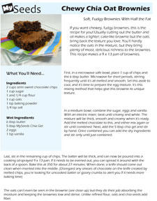 Oatmeal chia brownie recipe mini page